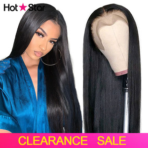 Lace Front Human Hair Wigs Straight Pre Plucked Hot Star 13x4 150% 1B Black Lace Frontal Wigs For Women Brazilian Remy Lace Wigs(China)