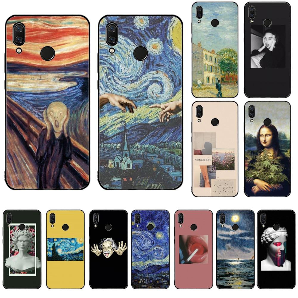 3D บรรเทา Van Gogh สำหรับโทรศัพท์ redmi 7A BASEUS กรณีสำหรับ redmi 5 plus 6 Pro 6A S2 4X 7A i7 note7 GO Soft ซิลิโคน
