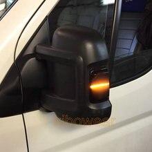 Para peugeot boxer para citroen jumper relé para fiat ducato led dinâmico turn signal espelho luz blinker para ram promaster caminhão