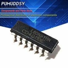 10 pces cd4011be cd4011 dip-14 4011 quad 2-entrada nand portão ic