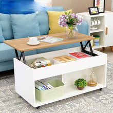 Multifunctional table board lifting folding coffee table storage sofa table tea table end table in living room furniture
