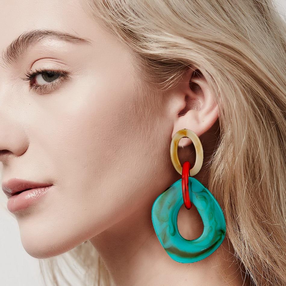 2019 Women Acrylic Minimalist Earrings Charm Statement Earring Pendant Fashion Jewelry Gifts Pendientes Brincos Amazing Price
