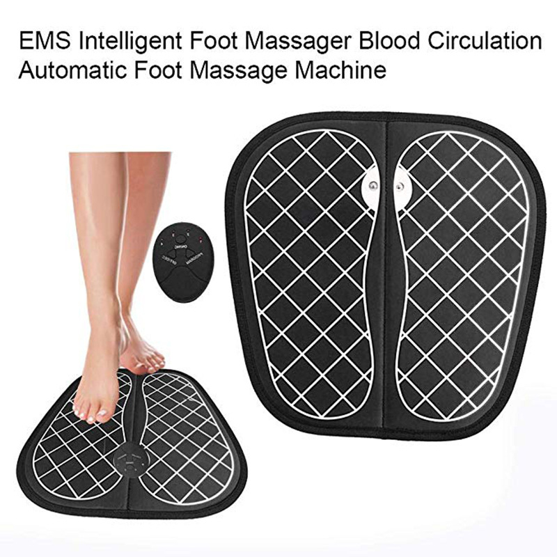 Electric EMS Foot Massager Pad Feet Muscle Stimulator Foot Massage Mat Improve Blood Circulation Relieve Ache Pain Health Care 2