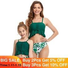 Parent-enfant Maillot De Bain Nouveau D'été Femme Bikini Beachwear Mince Filles Maillot de bain Maman Et fille Maillots De Bain vêtements pour Enfants