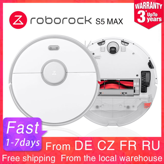 $ US $468.73 2020 New Roborock S5 Max Robot Vacuum Cleaner Automatic Smart Planned Sweeping Dust Sterilize Washing Mop XIAOMI MIJIA APP WIFI