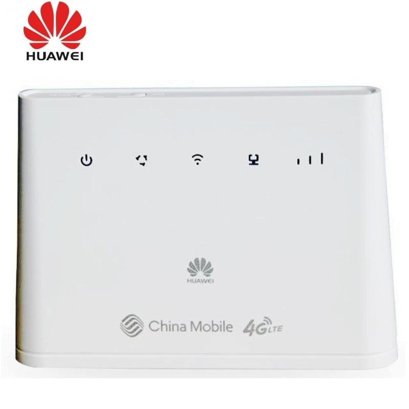Débloqué Huawei B310As-852 LTE FDD 900/1800/2600Mhz TDD 1900/2300 M/2500/2600 Mhz Route Mobile sans fil VOIP + 2 pièces 4g B310 antenne
