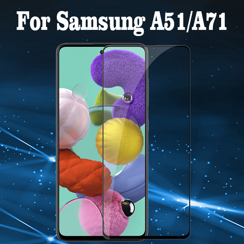 Tempered Glass For Samsung A51 A71 Screen Protector For Samsung Galaxy A 51 71 SM-A515F A515 SM-A715F Full Cover Safety Glass