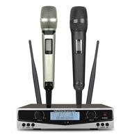SOM SKM9100-KTV para casa, puesta en escena, alta calidad, UHF, sistema Dual profesional con micrófono inalámbrico, larga distancia dinámica