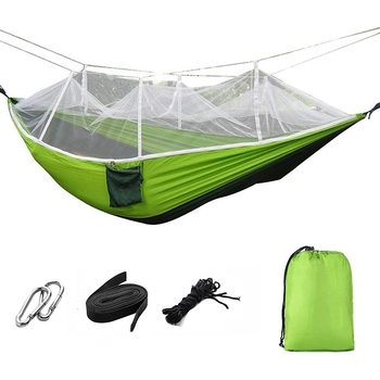 цена на Portable Foldable Double Camping Hammock Mosquito Net Tree Hammocks Tent Travel Bed for Hiking Camping