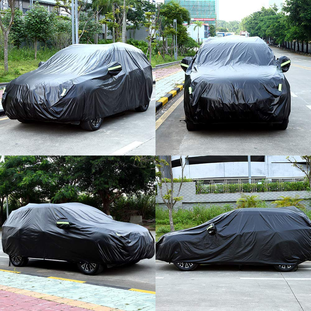 Image 2 - 420D Rain Proof UV SUN Snow Protector Dust Resistant Waterproof Auto Sedan Saloon Hatchback SUV Full Car Cover Coat Shade-in Car Covers from Automobiles & Motorcycles