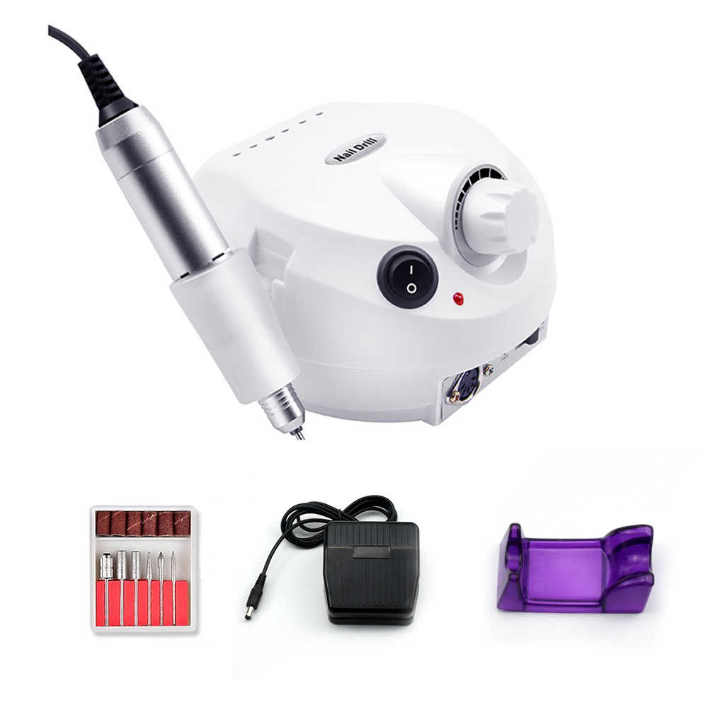 Pro 35000Rpm Electric Kuku Bor Mesin Electric Manikur Mesin Latihan Aksesori Pedicure Kit Kuku Bor File Bit Nail Alat