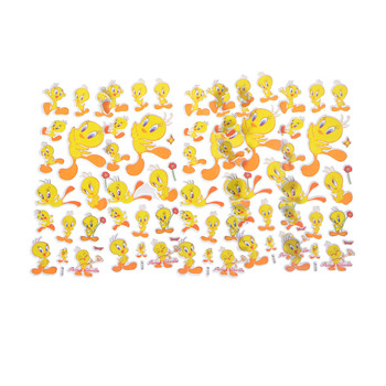 5 Sheets Colourful Yellow Duck Bubble Stickers Decal Kids Children Teacher Praise Merit PVC Bubble Stickers image