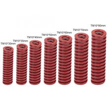 2pcs OD 10mm ID 5mm High Accuracy Steel Red Medium Load Mould Die Spring Rigidity