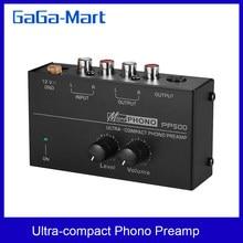 PREAMPLIFICADOR DE preamplificador de Phono ultracompacto, con controles de nivel y volumen, entrada RCA y salida, 1/4