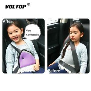Image 1 - 1pcs ילד חגורת בטיחות כרית אביזרי רכב קישוט לוח מחוונים תליית תליון ילד הגנה משולשת מחזיק מושב תומך