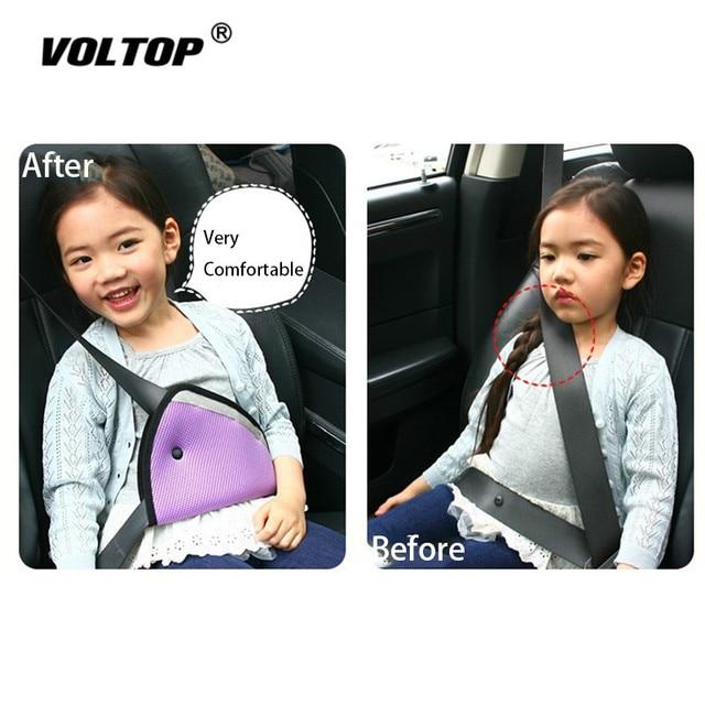 1pcs ילד חגורת בטיחות כרית אביזרי רכב קישוט לוח מחוונים תליית תליון ילד הגנה משולשת מחזיק מושב תומך