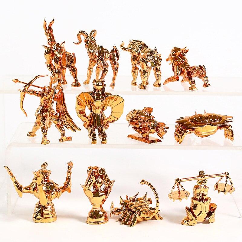 SAINT SEIYA 12 FIGURES SET GOLDEN ZODIAC 3-6cm LOS CABALLEROS DEL ZODIACO