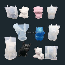 3D Rabbit Lucky Cat Dog Jewelry Mold Silicone Jewelry Tools for Making Jewelry Accesorries