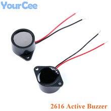 2616 активный пьезоэлектрический зуммер 26*16 мм водонепроницаемый звуковой сигнал герметичный водонепроницаемый 3-24 В 26x16 мм Diy