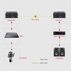 Image 5 - 4ch RCA audio a fibra óptica Digital audio convertidor estéreo Audio sobre fibra óptica extensor Convertidor para sistema de radiodifusión