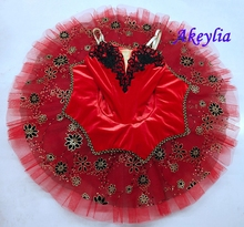 Adult  Black Red Professional Ballet Tutu Costume Kitri Don Quixote Tutus Skirt Classical Ballerina Stage kids