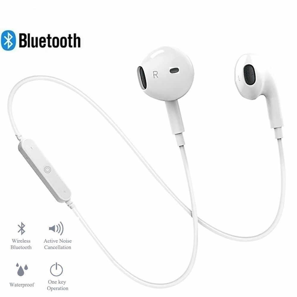ワイヤレス bluetooth イヤホンノイズキャンセルヘッドセットネックバンドライフスポーツステレオの耳の iphone xs サムスン 9