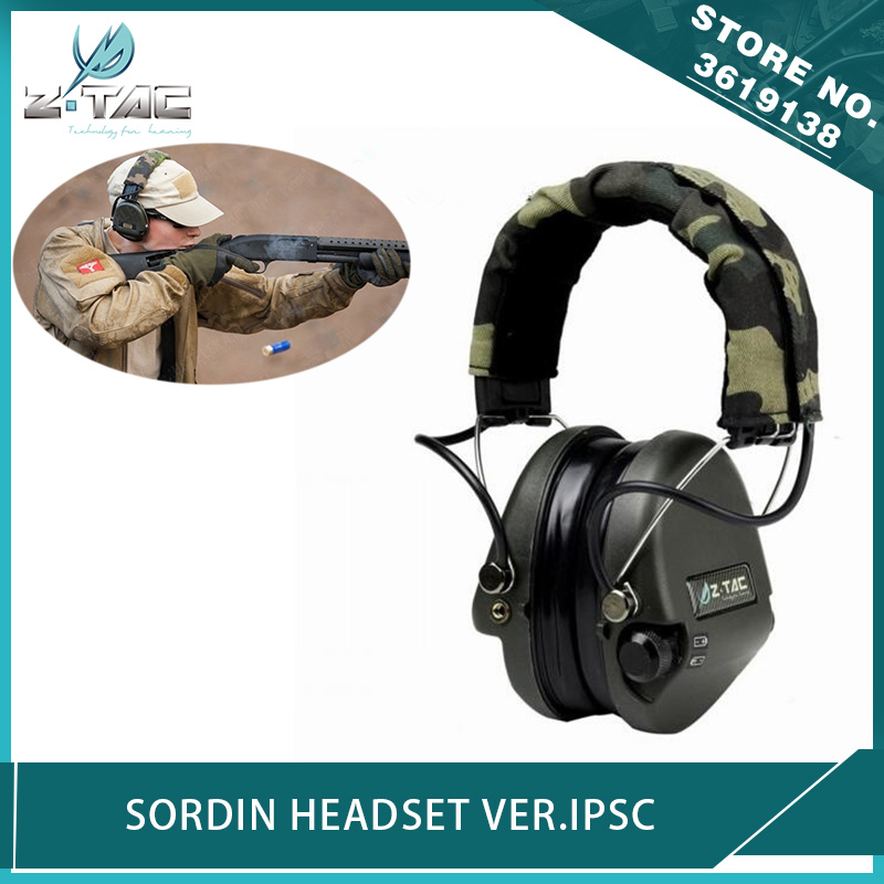 Z-Tactical Airsoft Sordin Headset For IPSC  Noise Reduction Shooting Headphone Hunting Protective Earphone For Military Radio