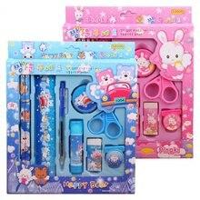 9 шт. канцелярские товары загружены стильный внешний вид детский Канцелярский набор подарок основной школьный канцелярский подарок коробка