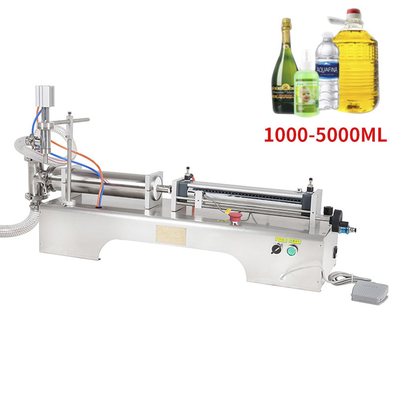 1000-5000ML Electric Pneumatic Single Head Liquid Filling Machine Shampoo Gel Water Wine Milk Coffee Beverage Filling Machine