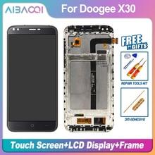 AiBaoQi yeni orijinal 5.5 inç dokunmatik ekran + 1280X720 LCD ekran + çerçeve meclisi için Doogee X30 model telefon