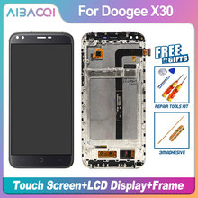 Aibaoqi Nieuwe Originele 5.5 Inch Touch Screen + 1280X720 Lcd scherm + Frame Assembly Vervanging Voor Doogee X30 Model Telefoon