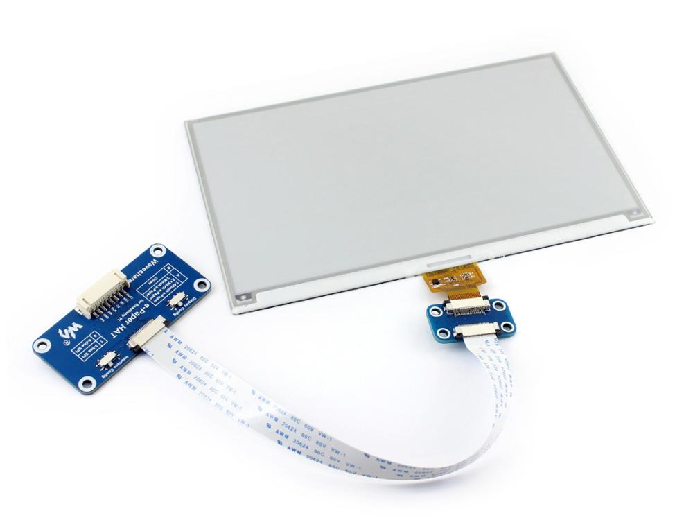 7.5inch E-Paper HAT 640x384, 7.5inch E-Ink Display HAT For Raspberry Pi,Supports Raspberry Pi, Arduino, STM32, Etc.