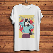 T-shirt blanc drôle pour hommes, japonais Yokai, anime manga Otaku, streetwear, t-shirt décontracté
