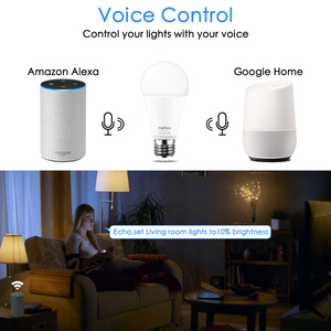 Image 2 - 15W 똑똑한 전구 Dimmable WiFi LED 램프 E27 색깔 변화 램프 RGB 마술 전구 110V 220V app는 Alexa Google assistant를 운영한다