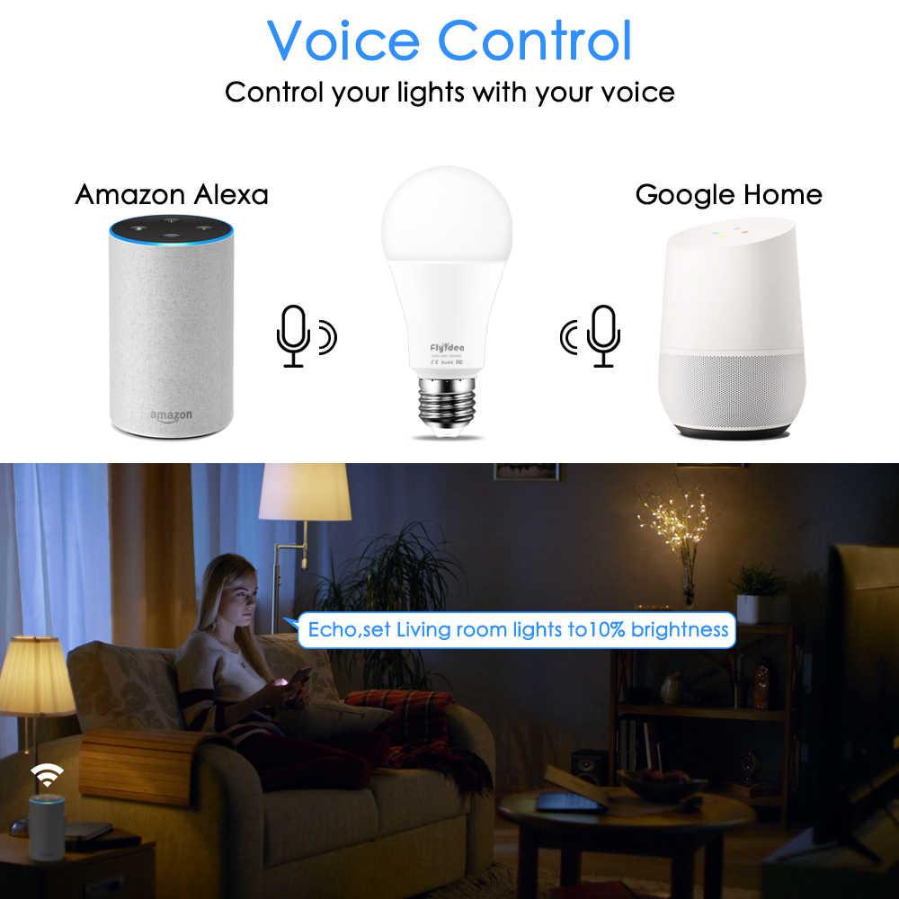 15W Smart Light Bulb Dimmable Wifi LED Lampu E27 Warna Berubah Lampu RGB Magic Bulb 110V 220V aplikasi Beroperasi Alexa Asisten Google