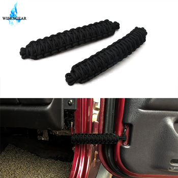 For Jeep Wrangler Door Limiting Straps JK JKU TJ CJ YJ JL Car Door Restriction Limit Protect Adjustable Hinge Rope 1996-2018 image