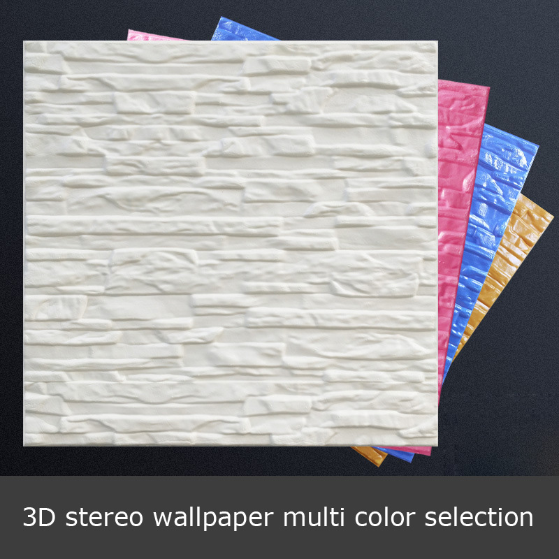 014 please order at least 10 Wall stickers 3d self adhesive brick soft living room TV background anti collision wallpaper s in Wall Stickers from Home Garden