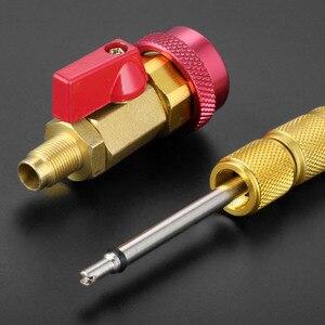 Image 5 - Noyau de Valve de climatisation de voiture R134a dissolvant rapide installateur basse pression réfrigérant fréon kit dadaptateur outil de dissolvant de noyau de Valve