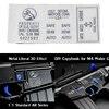Tactical Airsoft M4 M4a1 Metal Sticker Waterproof DIY Gel Ball Guns Paintball Gun 3M Strong Sticker Hunting Accessories