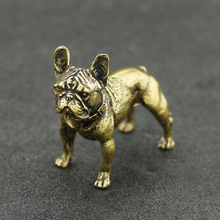 Antique Bronze Desktop Decoration Animal Dog Props Sculpture Home Office Bar Brass Zodiac Tea Pet Decorations