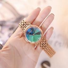 2019 moda kobiety sukienka zegarki damskie zegarki kwarcowe zegarki Chronograph zegarek kwarcowy Plated klasyczne okrągłe kryształy zegarek relogio masculino zegar