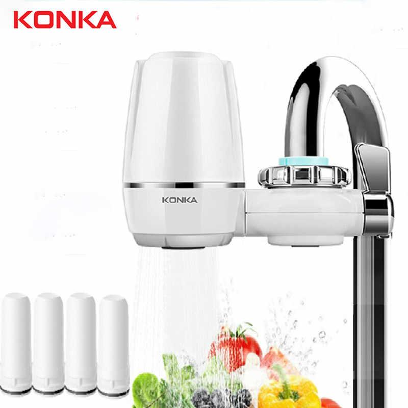 KONKA جهاز تنقية مياه الصنبور الصغيرة صنبور المطبخ قابل للغسل السيراميك Percolator تصفية المياه Filtro الصدأ استبدال إزالة البكتيريا