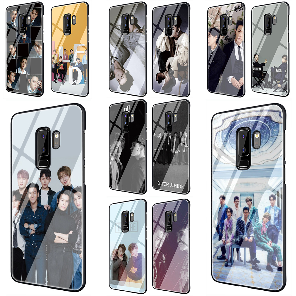 EWAU KPOP Super Junior Glass Phone <font><b>Case</b></font> for <font><b>Samsung</b></font> Galaxy S7 8 9 10 <font><b>Note8</b></font> 9 10 Plus A10 20 30 40 50 60 70 image