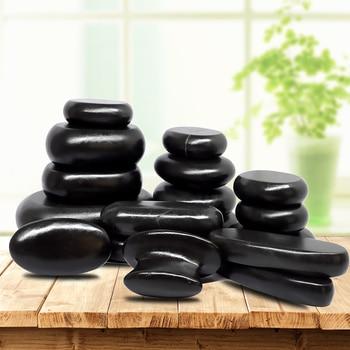 Hot Stone Massage Set Relieve Stress Back Pain Health Care Acupressure Lava Basalt Stones for Healthcare hot spa rock