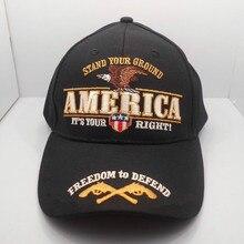 Напечатанная 2-я Регулировка стенд ваша Земля свободно защитить Футболка с принтом оружье бейсбольная Кепка шляпа
