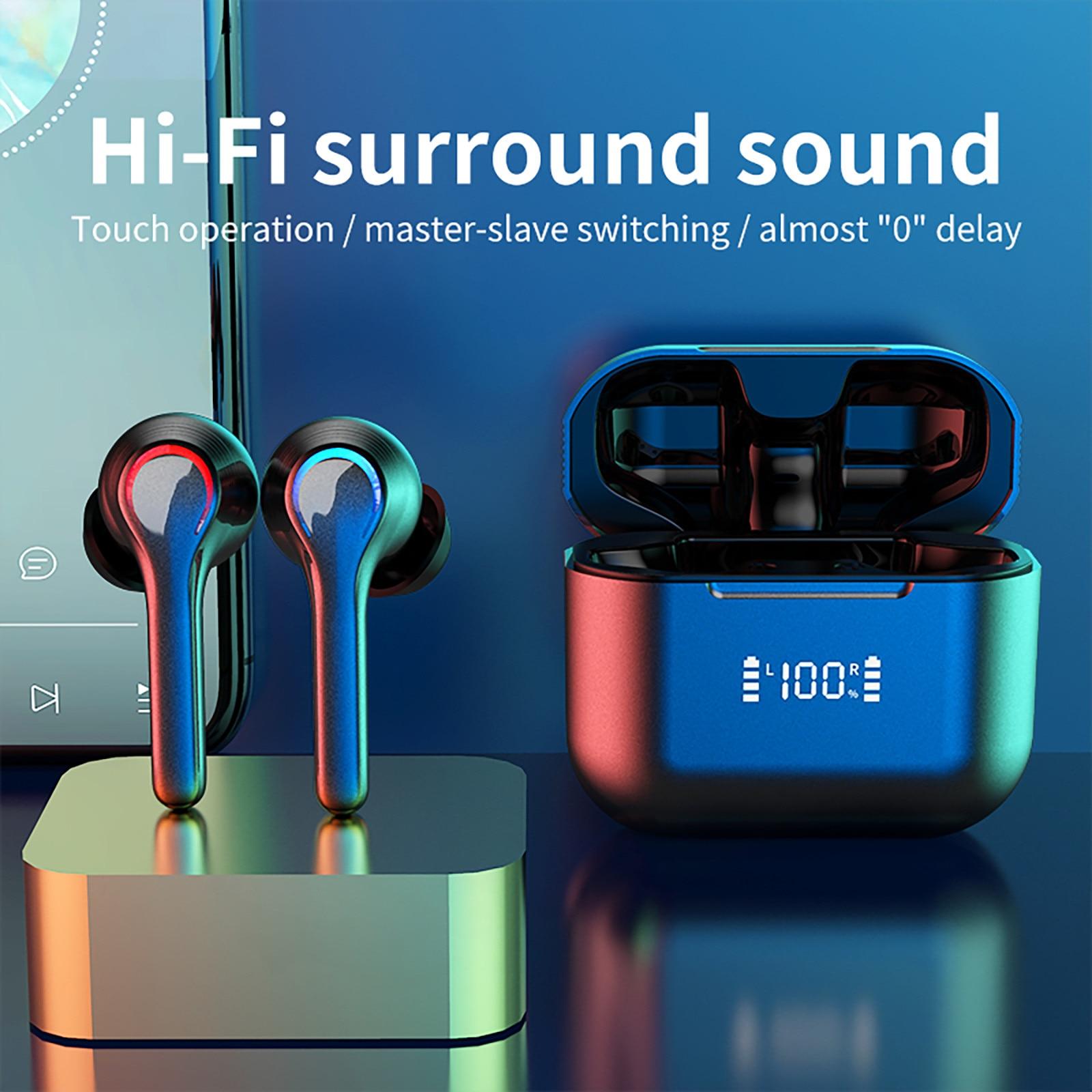 A6 impermeável bluetooth 5.0 fones de ouvido sem fio fone com cancelamento ruído auricular inalambrico ecouteur sans fil