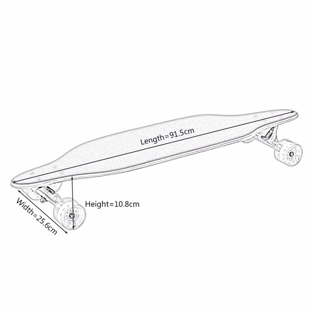 Nuevo fresco 4 ruedas tabla larga Skateboard deporte impreso Arce carbono acero Longboard adulto estudiante calle estilo Tabla de patín - 6