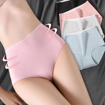 Majtki damskie wysokiej talii bielizna bawełniana Plus rozmiar bezszwowe majtki oddychająca bielizna kobiece majtki jedwabne majteczki tanie i dobre opinie COTTON Poliamid spandex CN (pochodzenie)