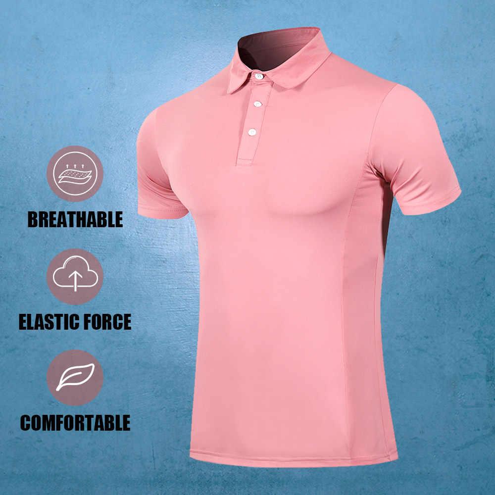 새로운 골프 의류 통풍 남성 여름 골프 스포츠 통기성 골프 셔츠 폴로 셔츠 남성 t-셔츠