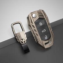 Funda para llaves de coche, accesorios para asientos de Volkswagen, VW, Polo, Tiguan, Passat B5, B6, B7, Golf EOS 4, 5, 6, Scirocco, Jetta, MK4, MK6, Octavia